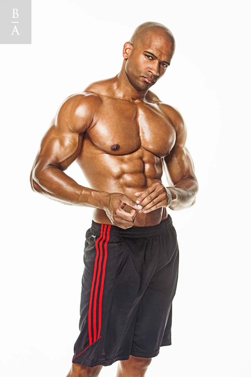 Photo @ Don Harris. Retouching bodybuilder