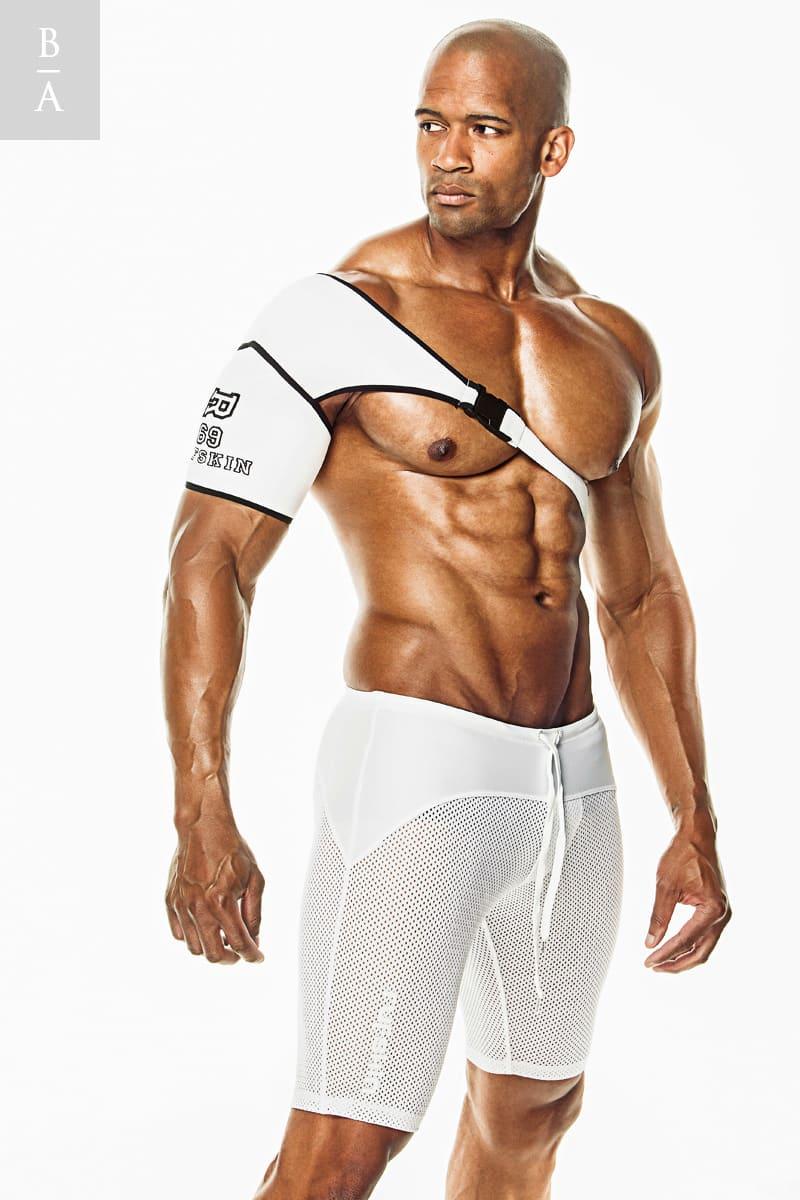 Photo @ Don Harris. Retouching bodybuilder