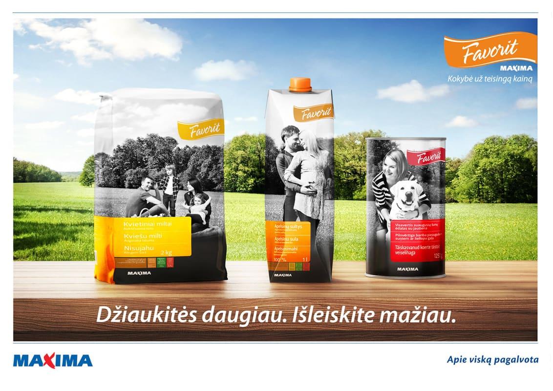 Рекламная кампания Maxima