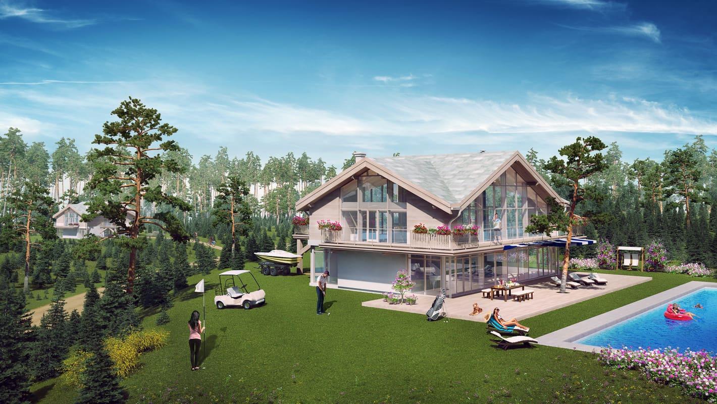 3D Внутренняя и внешняя архитектурная визуализация