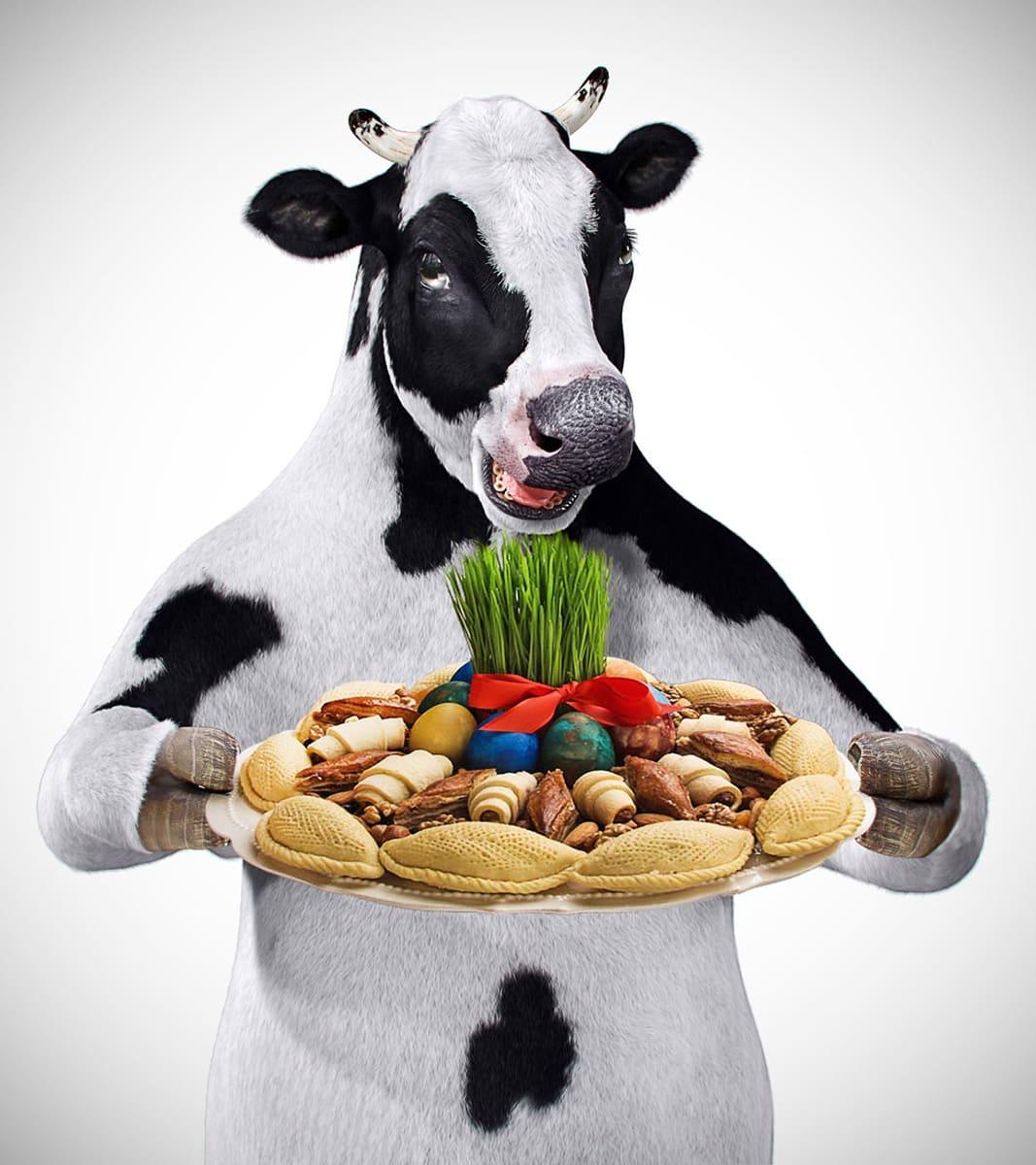 Корова 3d модель