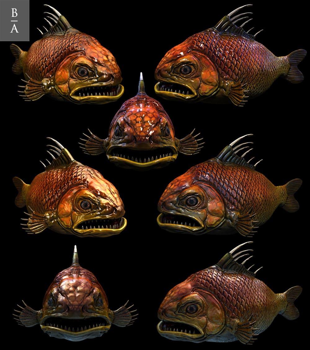 Рыбная 3d модель